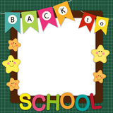 Back to school frame Royalty Free Stock Images