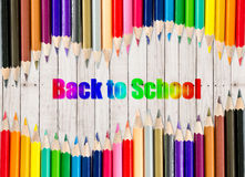 Back to school frame. Stock Photos