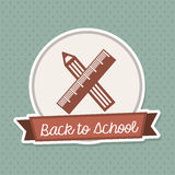 Back to school frame Stock Photos