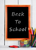 Back to school. Frame. School tools . Royalty Free Stock Image
