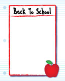 Back To School Full Page Flyer royalty free illustration