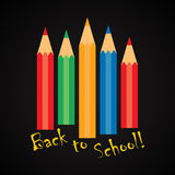 Back to school! - funny inscription template Royalty Free Stock Photography