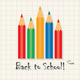 Back to school! - funny inscription template on math type background Royalty Free Stock Photography