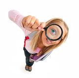 Back To School. Funny Schoolgirl Stock Photo