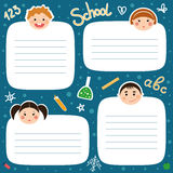 Back to school funny tags for notebooks. Stock Photo