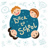 Back to school funny tags for notebooks. Royalty Free Stock Photography