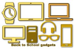 Back to school gadgets royalty free illustration