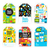 Back to School Gift Label Set Stock Photography