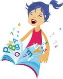 Back to school - girl. Vector illustration Stock Image
