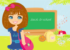 Back to school girl Royalty Free Stock Images