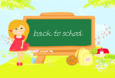 Back to school girl Stock Images