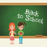 Back to school girls student ready Stock Photography