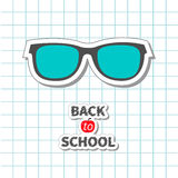 Back to school Glasses icon on paper sheet Stock Photography