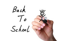 Back to school. Going happily back to school. Engage in advanced studies. Study Concept Royalty Free Stock Photo