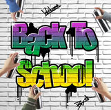 Back to school graffiti Stock Photography