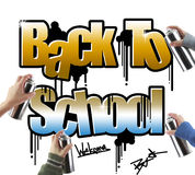Back to school graffiti Stock Images