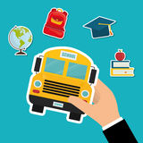 Back to school graphic. Design icons, vector illustration eps10 Royalty Free Stock Photos