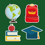 Back to school graphic Royalty Free Stock Photography