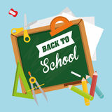 Back to school graphic Royalty Free Stock Photos