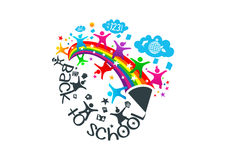 Back to school graphic vector Stock Photos