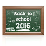 Back to school green blackboard Stock Photography