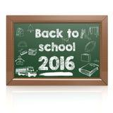 Back to school green blackboard Stock Photography