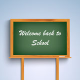 Back to school on green board template Royalty Free Stock Images
