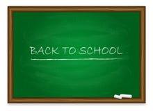 Back to School on green chalkboard Stock Photos