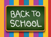 Back to School green color board Royalty Free Stock Photography