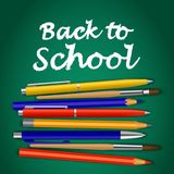 Back to school green concept background, realistic style Royalty Free Stock Photography