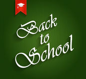 Back to School green poster Stock Images