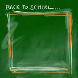 Back to school - green smeary border Stock Images