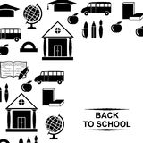 Back to school greeting background Royalty Free Stock Image