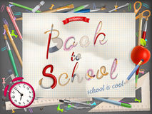 Back to school greeting card. EPS 10 Stock Images