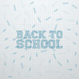 Back to School greeting Card Template Royalty Free Stock Photography