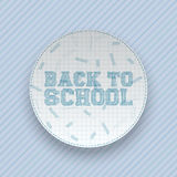 Back to School greeting circle Banner Stock Image