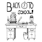 Back to school hand drawn. Vector illustration Royalty Free Stock Photos
