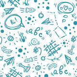Back to school hand drawn doodle seamless pattern Royalty Free Stock Image