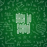 Back to school hand-drawn doodles background.Vector illustration.  royalty free stock photos