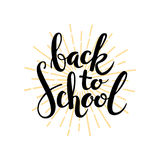 Back to school. Hand drawn illustration Royalty Free Stock Photography