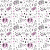 Back to school. Hand drawn seamless pattern. Royalty Free Stock Photography