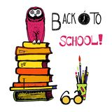 Back to school hand drawn Stock Photos