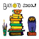 Back to school hand drawn Royalty Free Stock Images