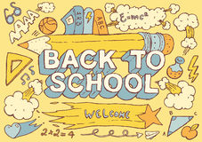 Back to school hand drawn vector illustration Royalty Free Stock Photos
