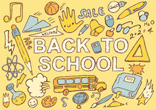 Back to school hand drawn vector illustration Royalty Free Stock Image