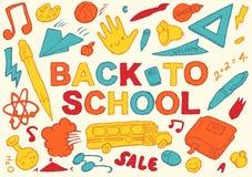 Back to school hand drawn vector illustration Stock Image