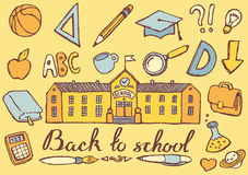 Back to school hand drawn vector illustration Royalty Free Stock Photo
