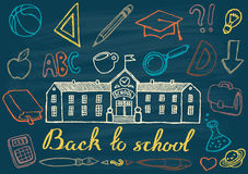 Back to school hand drawn vector illustration Royalty Free Stock Images
