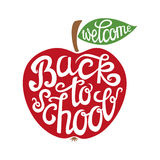 Back to school hand lettering card Royalty Free Stock Images