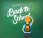 Back to School hand written lettering calligraphy. Stock Images